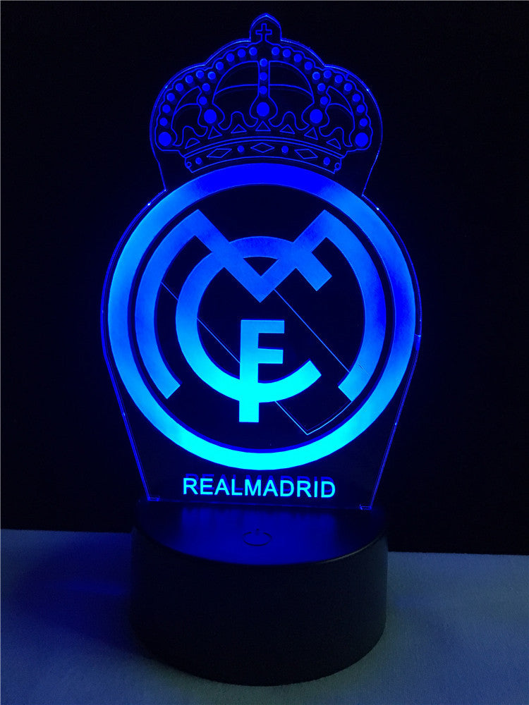 real madrid logo logo touch 3d colorful nightlight lamp