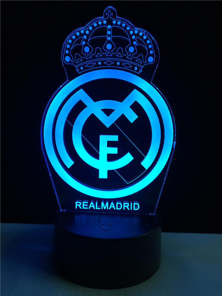Real madrid logo logo touch 3d colorful nightlight lamp 3d real madrid logo logo touch 3d colorful nightlight lamp voltagebd Images