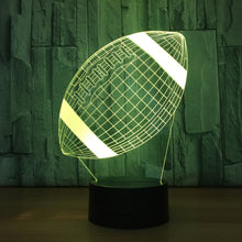 Rugby Football 3D Optical Illusion Lamp - 3D Optical Lamp