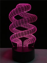 Spiral ring touch 3D colorful Nightlight  lamp - 3D Optical Lamp