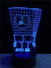 Sponge baby touch 3D colorful Nightlight lamp - 3D Optical Lamp