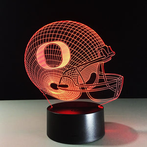 Football Inspired 3D Optical Illusion Lamp - 3D Optical Lamp