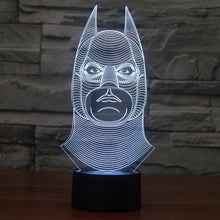 DC Comics Inspired Realistic Batman Head Bust 3D Optical Illusion Lamp - 3D Optical Lamp
