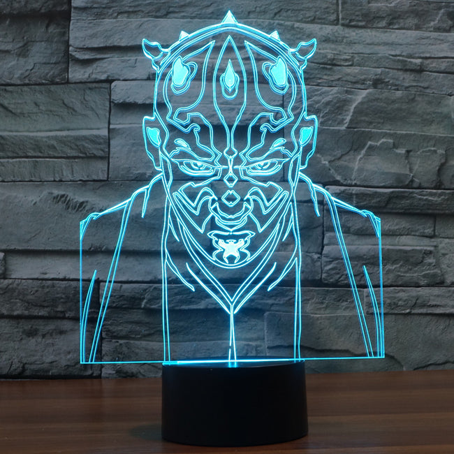 Star Wars Inspired Darth Maul 3D Optical Illusion Lamp - 3D Optical Lamp