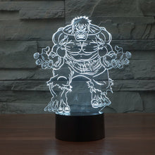 Marvel Inspired The Incredible Hulk 3D Optical Illusion Lamp - 3D Optical Lamp