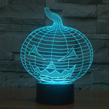 Carved Halloween Pumpkin 3D Optical Illusion Lamp - 3D Optical Lamp
