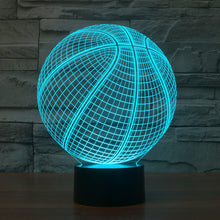 Realistic Basketball 3D Optical Illusion Lamp - 3D Optical Lamp