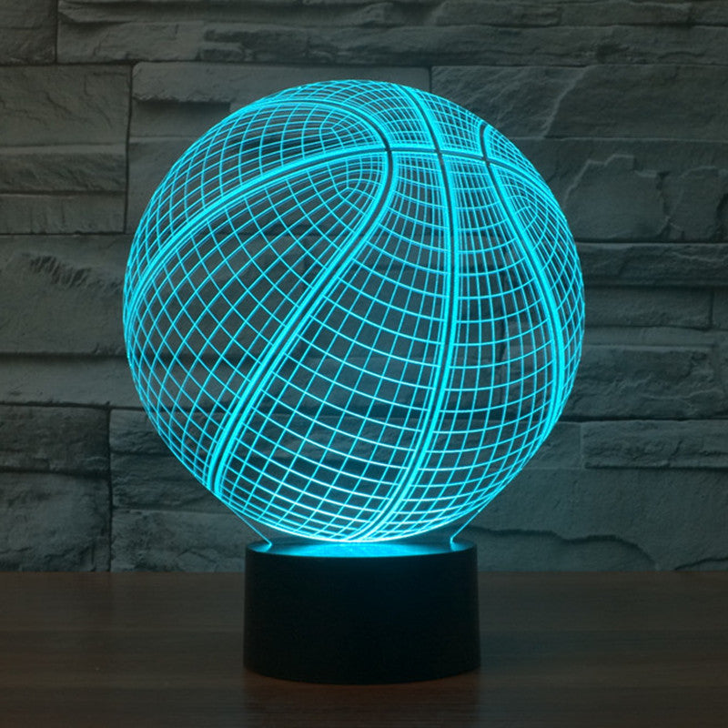 Lamp Illusion Optical 3d Realistic Basketball F3c1KTJl