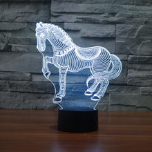 Charming Horse 3D Optical Illusion Lamp - 3D Optical Lamp