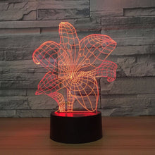 Abstract Flower 3D Optical Illusion Lamp - 3D Optical Lamp