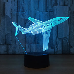 Adorable Airplane 3D Optical Illusion Lamp - 3D Optical Lamp