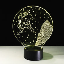 Aquarius Horoscope 3D Optical Illusion Lamp - 3D Optical Lamp