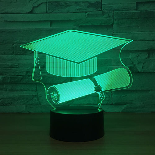 Bachelor Hat 3D Optical Illusion Lamp - 3D Optical Lamp