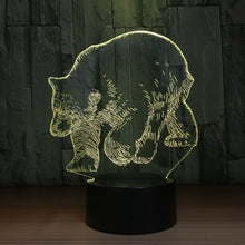 Walking Bear 3D Optical Illusion Lamp - 3D Optical Lamp
