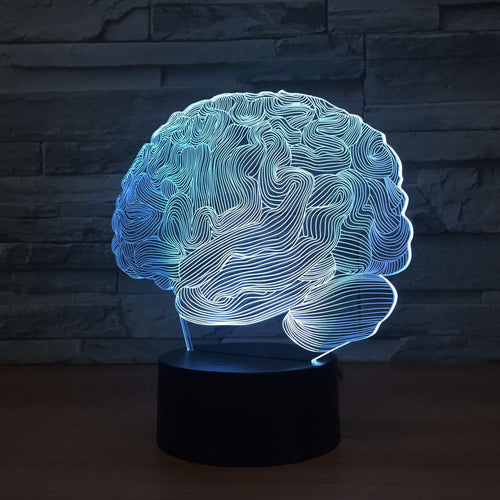 Human Brain 3D Optical Illusion Lamp - 3D Optical Lamp