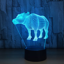 Adorable Bull 3D Optical Illusion Lamp - 3D Optical Lamp