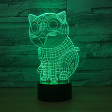 Cartoon Cat 3D Optical Illusion Lamp - 3D Optical Lamp