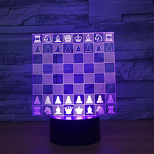 Chess Chessboard 3D Optical Illusion Lamp - 3D Optical Lamp