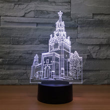 Church 3D Optical Illusion Lamp - 3D Optical Lamp
