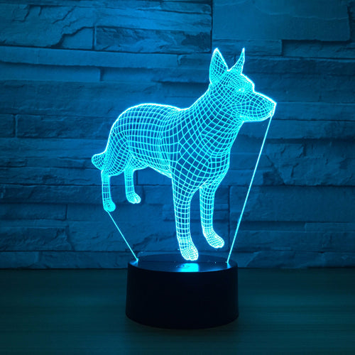 Abstract Dog 3D Optical Illusion Lamp - 3D Optical Lamp