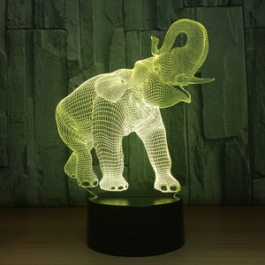 Elephant Touch 3D Optical Illusion Lamp - 3D Optical Lamp