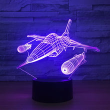 Fighter Aircraft 3D Optical Illusion Lamp - 3D Optical Lamp