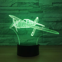 Fix-wing Aircraft 3D Optical Illusion Lamp - 3D Optical Lamp