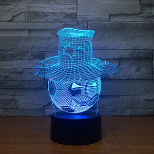 Creative Football 3D Optical Illusion Lamp - 3D Optical Lamp
