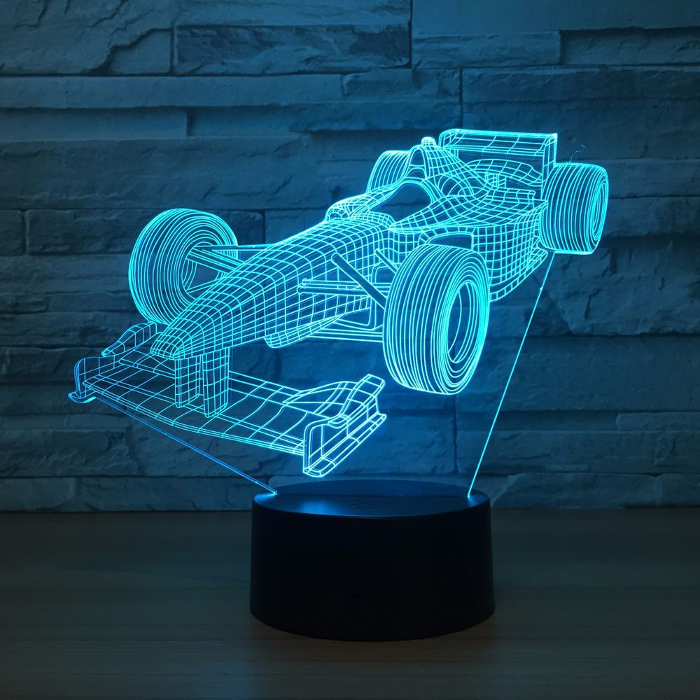 Formula Car 3D Optical Illusion Lamp - 3D Optical Lamp