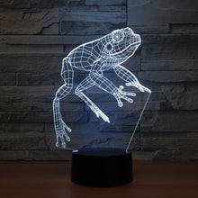 Lovely Frog 3D Optical Illusion Lamp - 3D Optical Lamp