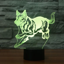 German Sheppard 3D Optical Illusion Lamp - 3D Optical Lamp