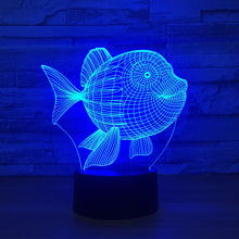 Adorable Goldenfish 3D Optical Illusion Lamp - 3D Optical Lamp