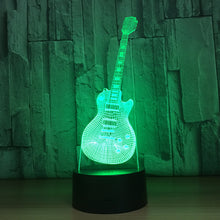 Abstract Guitar 3D Optical Illusion Lamp - 3D Optical Lamp