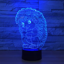 Adorable Hedgehog 3D Optical Illusion Lamp - 3D Optical Lamp