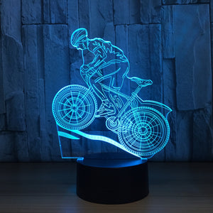 Hiking Biking 3D Optical Illusion Lamp - 3D Optical Lamp