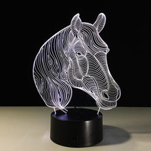 Elegant Horse Head 3D Optical Illusion Lamp - 3D Optical Lamp