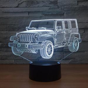 Jeep Inspired Car 3D Optical Illusion Lamp - 3D Optical Lamp