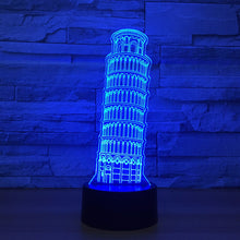 Leaning Tower of Pisa 3D Optical Illusion Lamp - 3D Optical Lamp