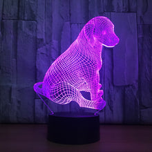 Lovely Puppy Touch 3D Optical Illusion Lamp - 3D Optical Lamp