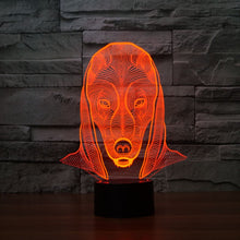 Lovely Dog Head 3D Optical Illusion Lamp - 3D Optical Lamp