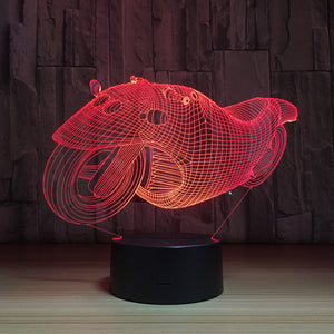 Modern Motorbike 3D Optical Illusion Lamp - 3D Optical Lamp