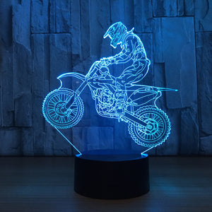 Mountain Cycling 3D Optical Illusion Lamp - 3D Optical Lamp