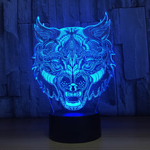 Murderous Wolf 3D Optical Illusion Lamp - 3D Optical Lamp