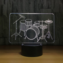 Music Instrument 3D Optical Illusion Lamp - 3D Optical Lamp