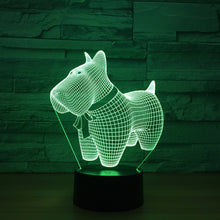 Lovely Pet Dog 3D Optical Illusion Lamp - 3D Optical Lamp