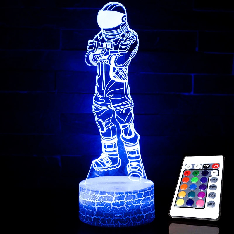 Action Figures 4 Fortnight 3D Optical Illusion Lamp - 3D Optical Lamp