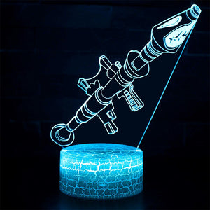Fortnight Scar Gun 3D Optical Illusion Lamp - 3D Optical Lamp
