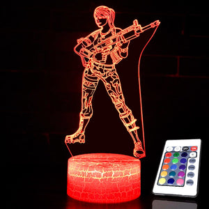 Action Figure 5 Fortnight 3D Optical Illusion Lamp - 3D Optical Lamp