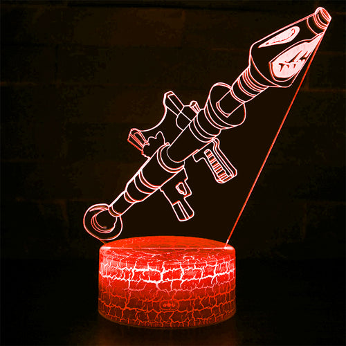 Fortnight Gun Model 3D Optical Illusion Lamp - 3D Optical Lamp
