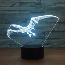 Flying Pterosaurs 3D Optical Illusion Lamp - 3D Optical Lamp